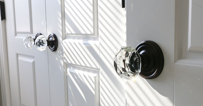 glass doorknobs